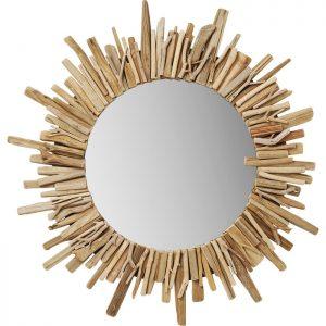 Кръгло огледало Legno Ø82 см